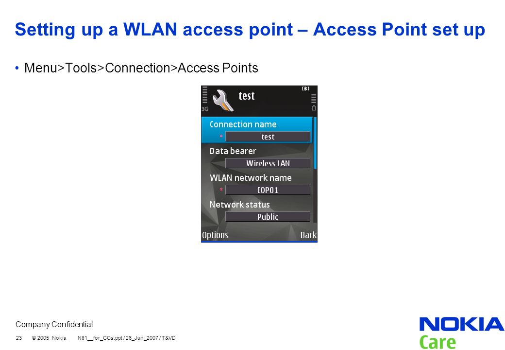 Setting up a WLAN access point – Access Point set up