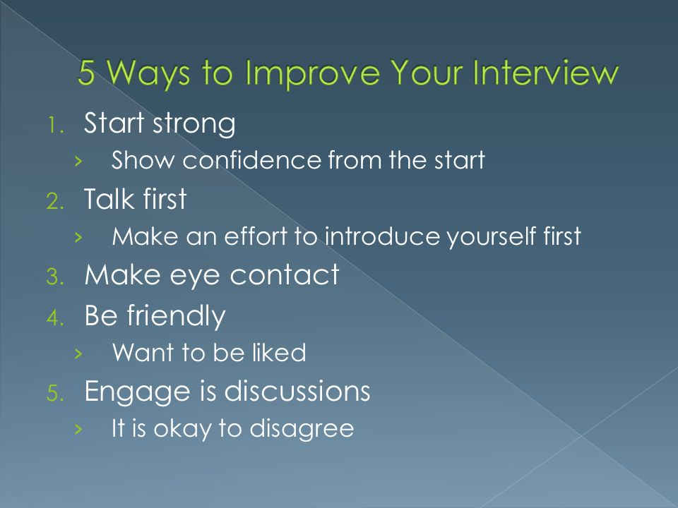 5 Ways to Improve Your Interview
