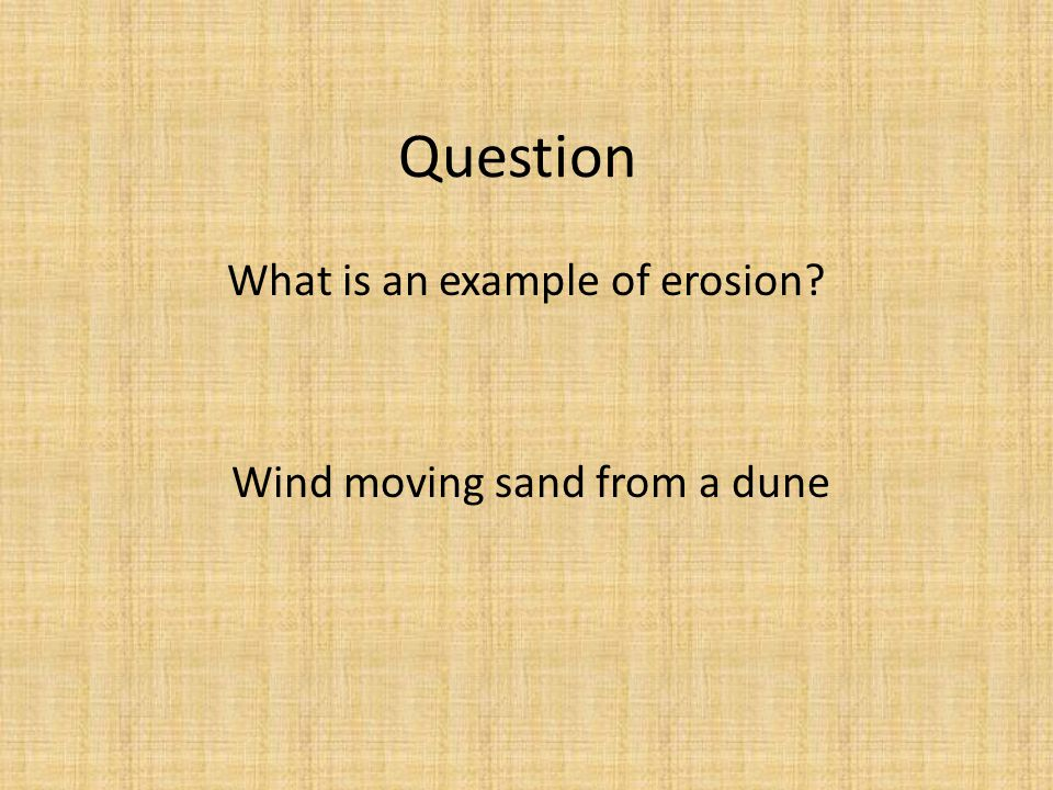 Wind moving sand from a dune