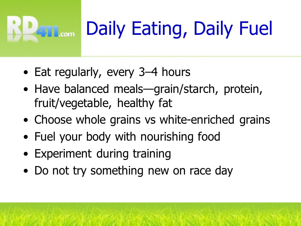 Daily Eating, Daily Fuel