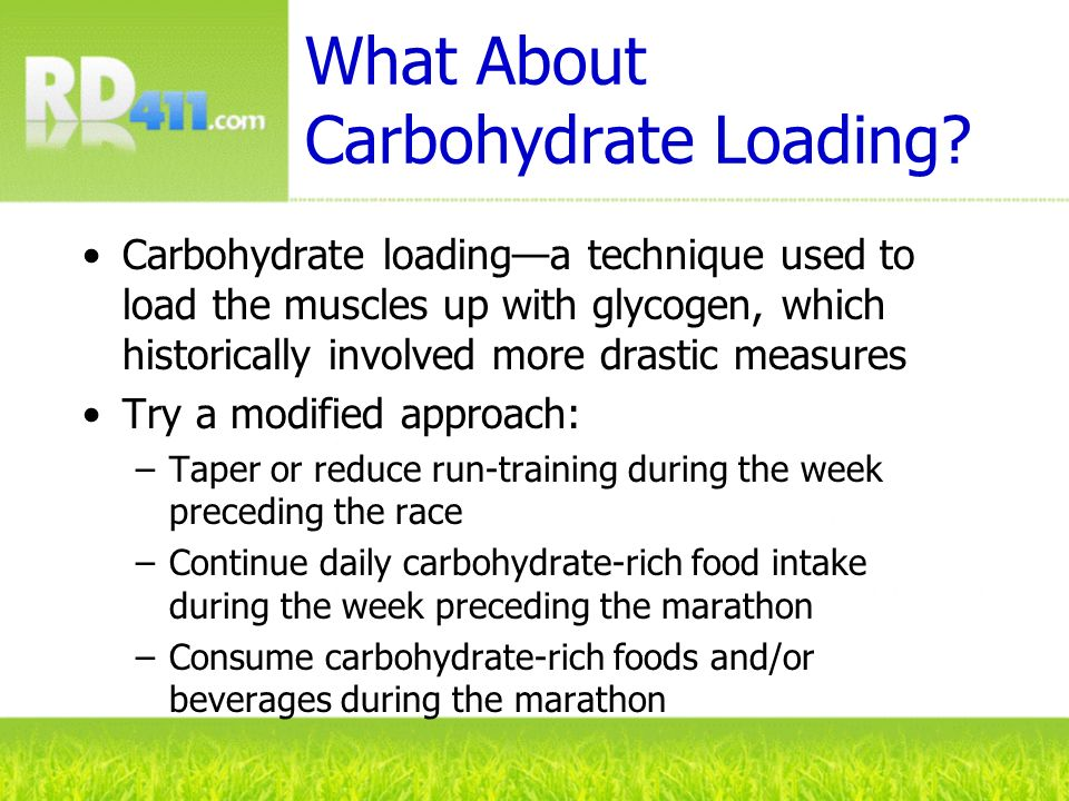What About Carbohydrate Loading