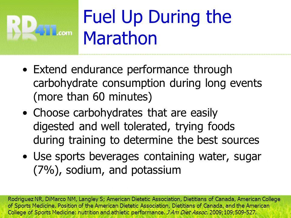 Fuel Up During the Marathon