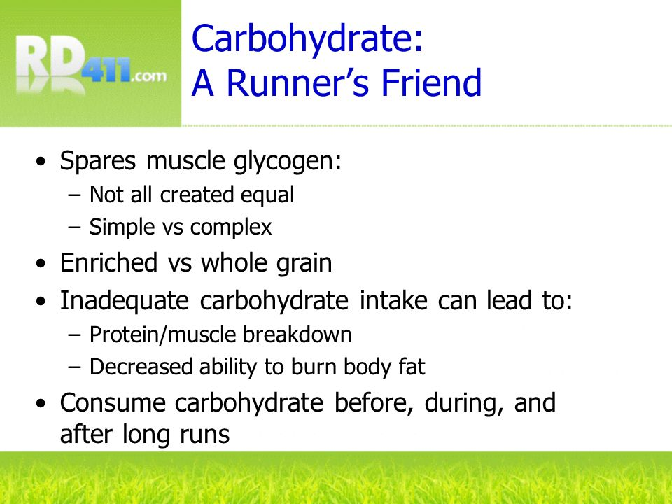 Carbohydrate: A Runner's Friend
