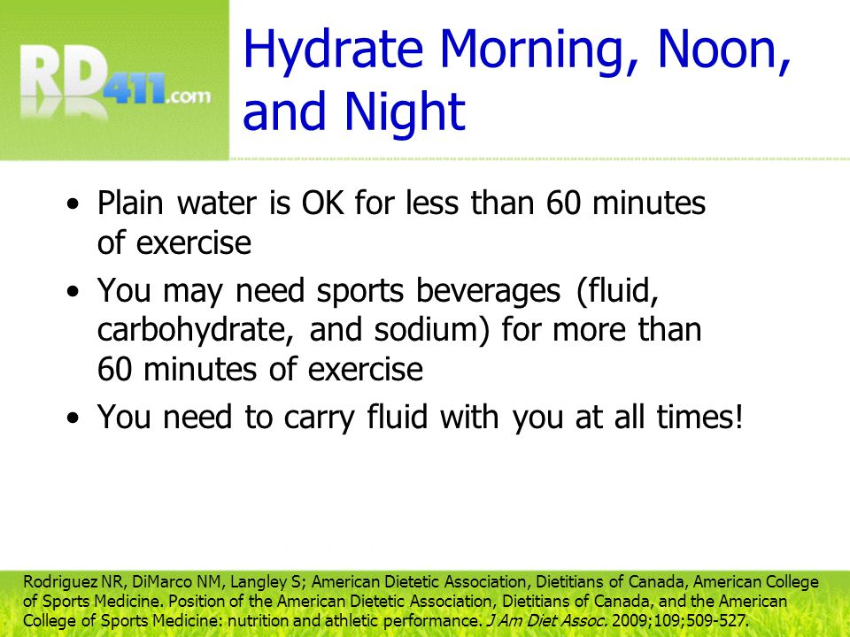 Hydrate Morning, Noon, and Night