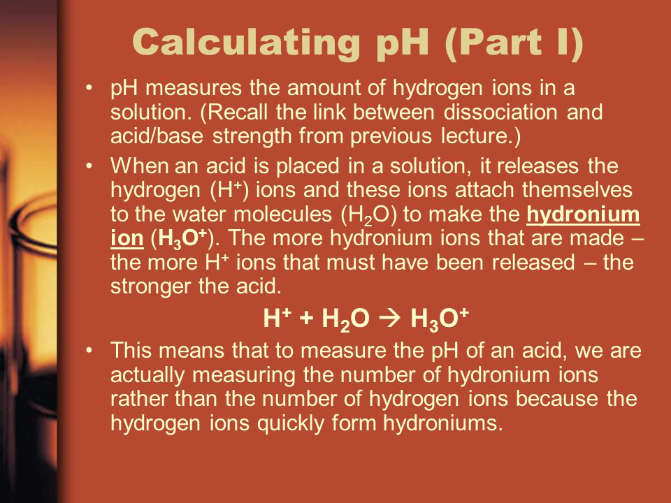 Calculating pH (Part I)