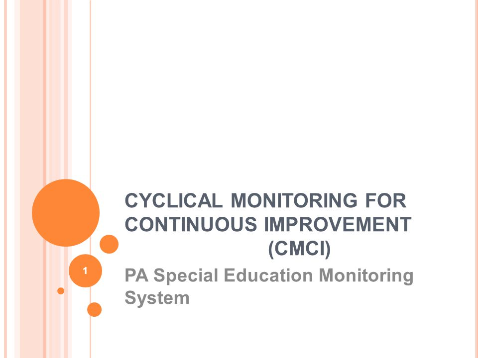 CYCLICAL MONITORING FOR CONTINUOUS IMPROVEMENT (CMCI)