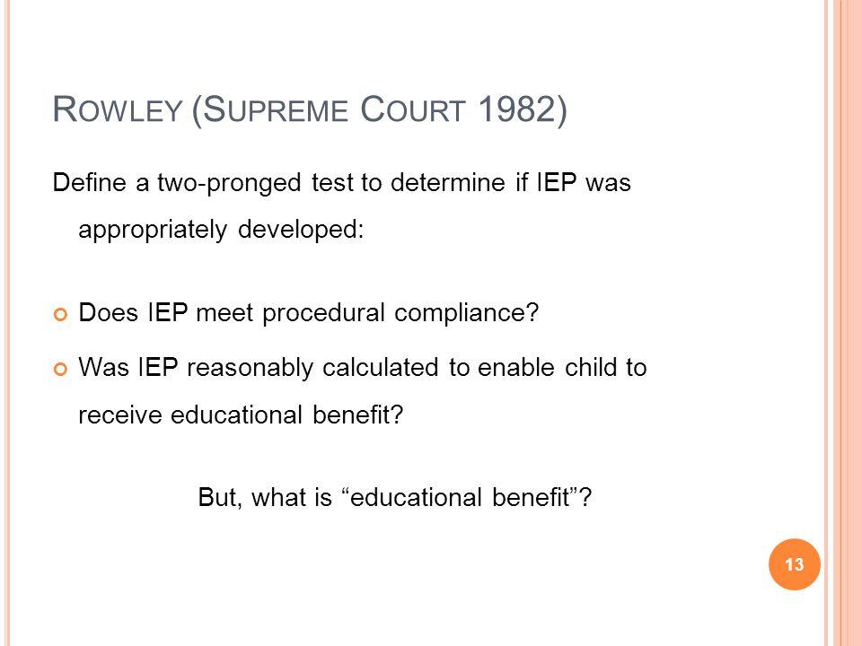 Rowley (Supreme Court 1982)