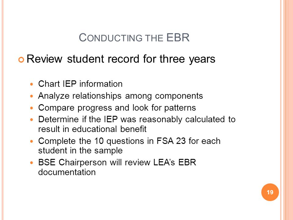 Review student record for three years