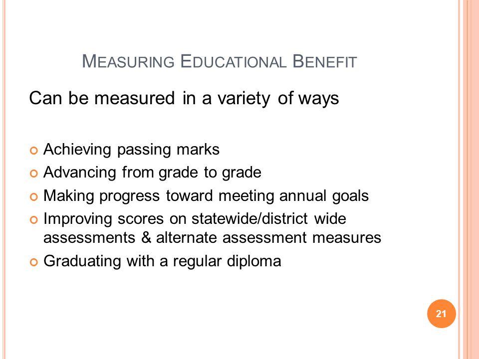 Measuring Educational Benefit