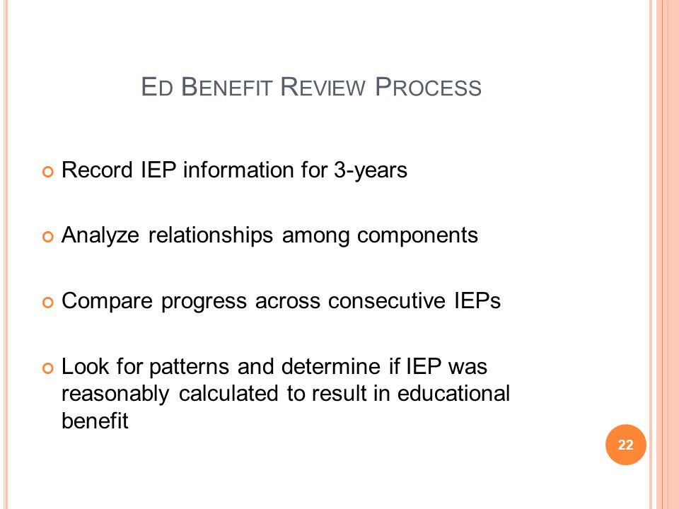 Ed Benefit Review Process