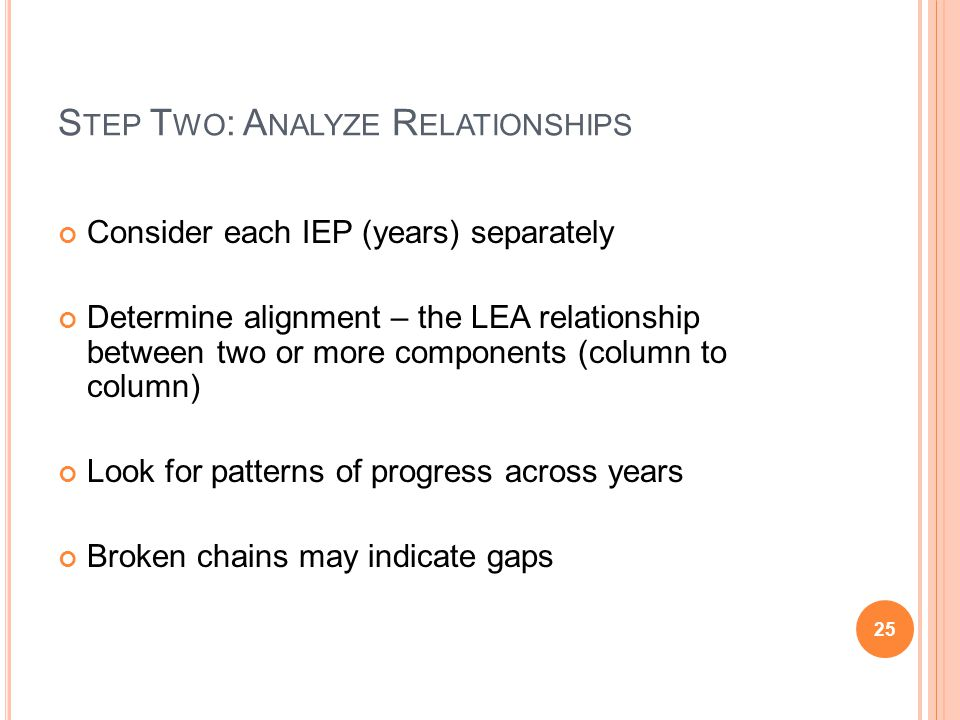 Step Two: Analyze Relationships