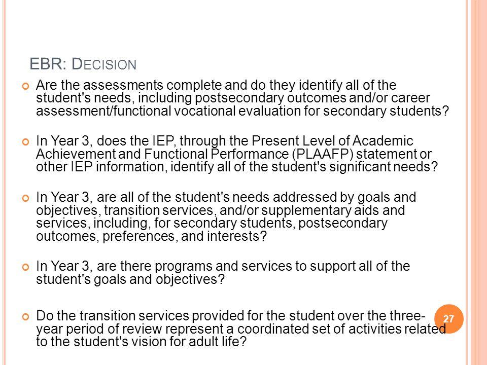 EBR: Decision