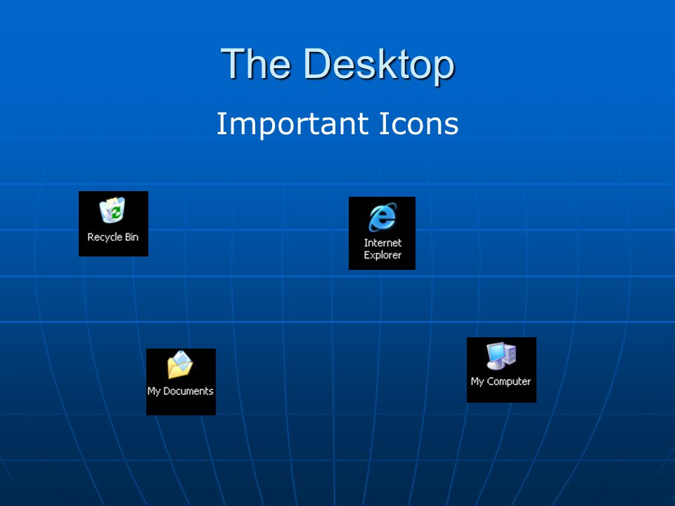 The Desktop Important Icons