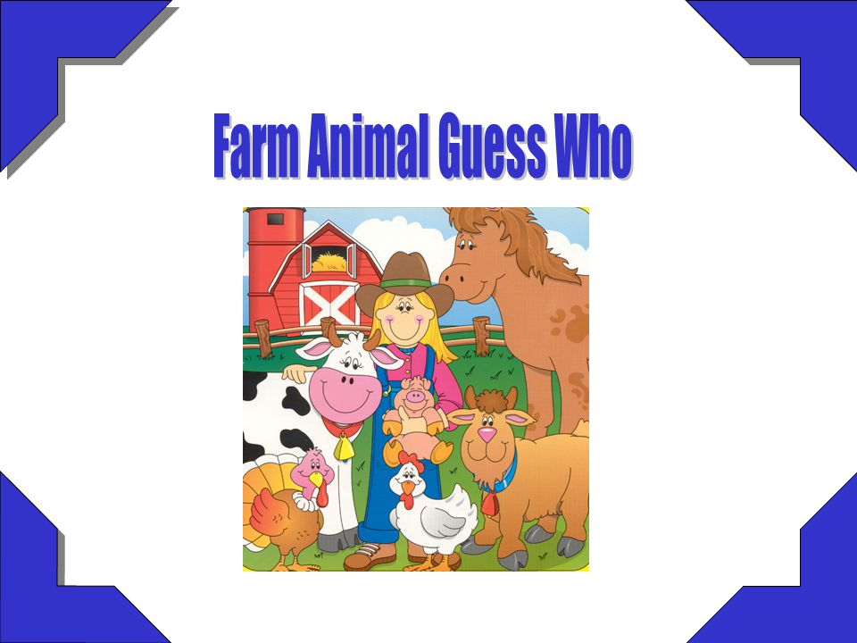 Farm Animal Guess Who