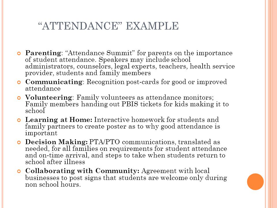 ATTENDANCE EXAMPLE
