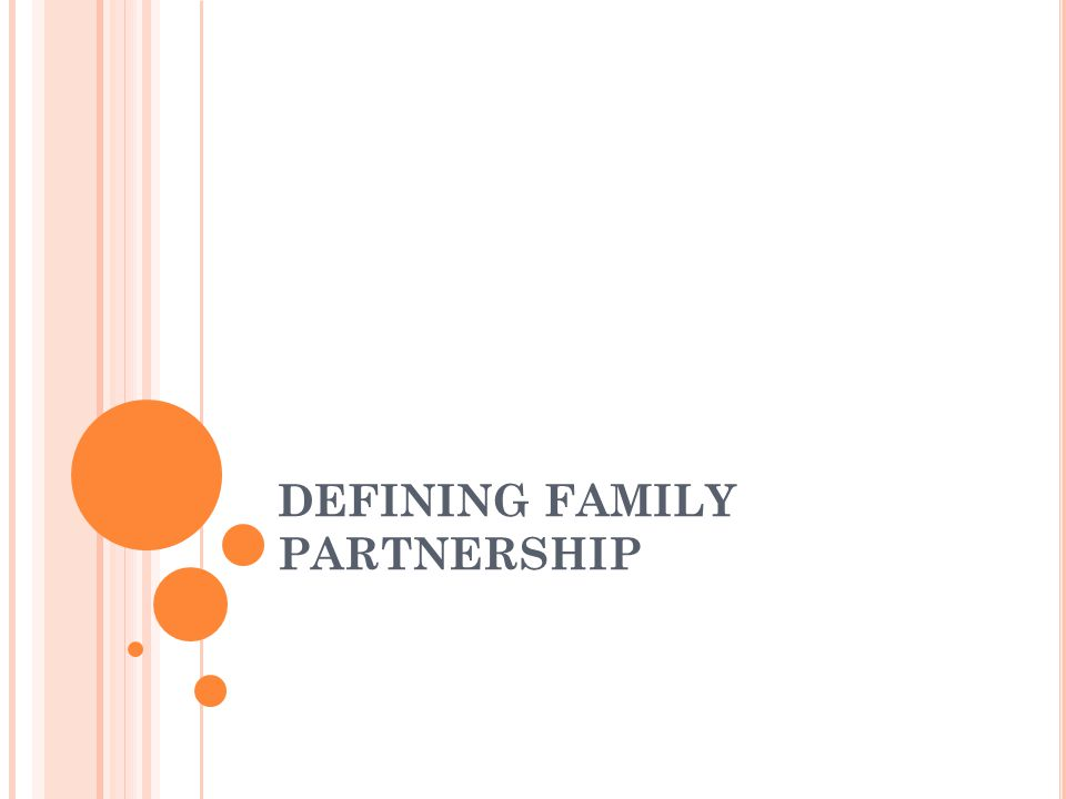 DEFINING FAMILY PARTNERSHIP