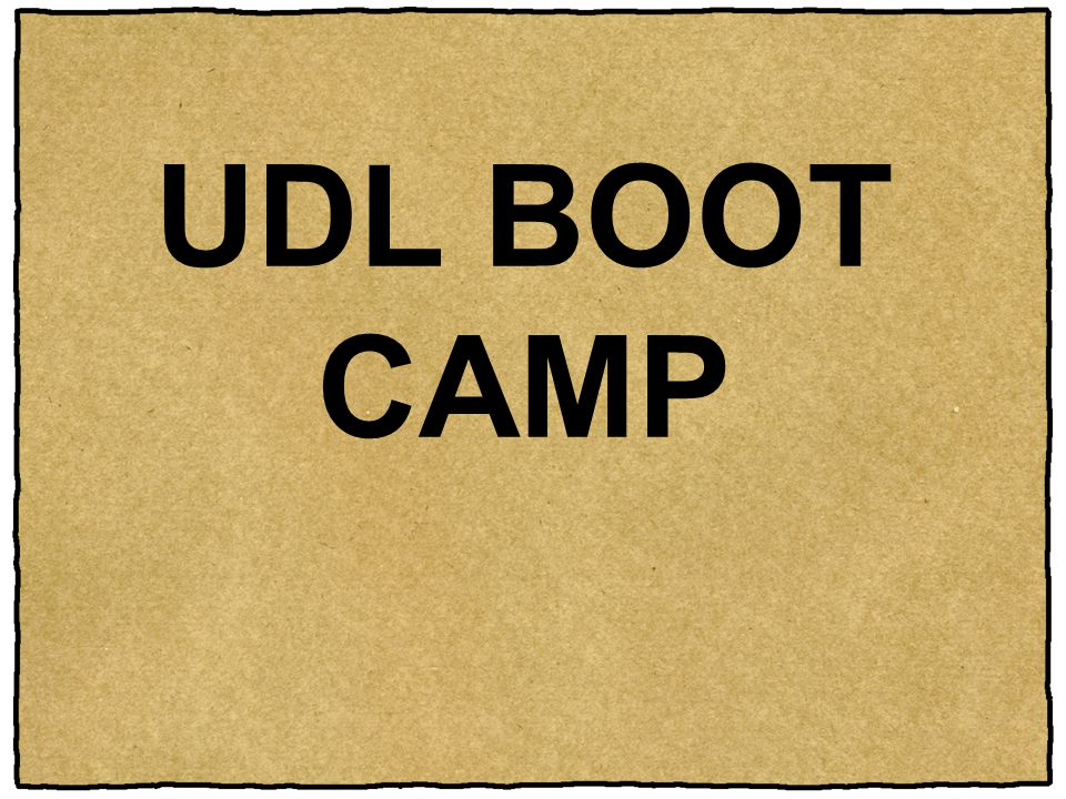 UDL BOOT CAMP