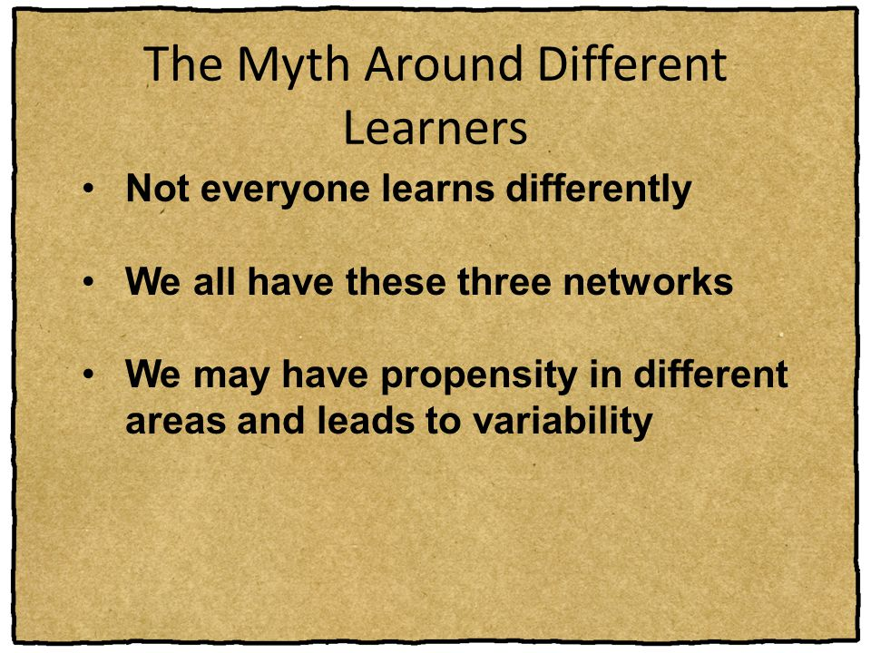 The Myth Around Different Learners