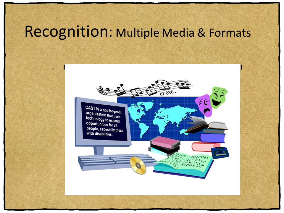 Recognition: Multiple Media & Formats