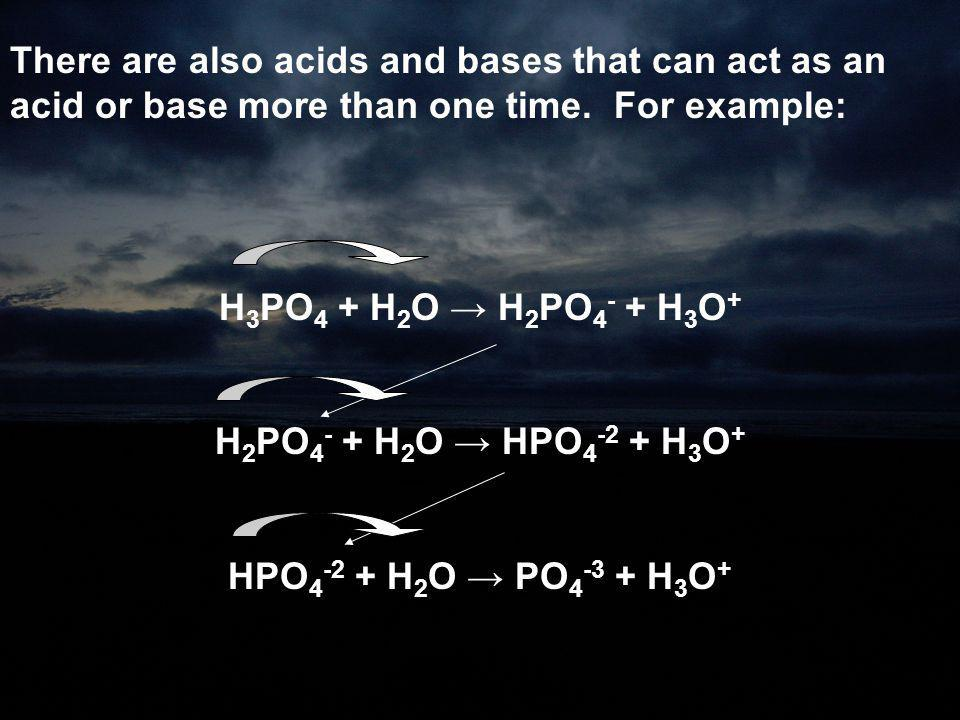 There are also acids and bases that can act as an acid or base more than one time. For example: