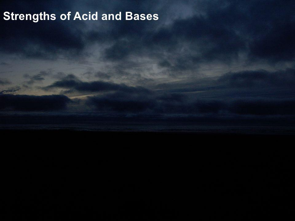 Strengths of Acid and Bases