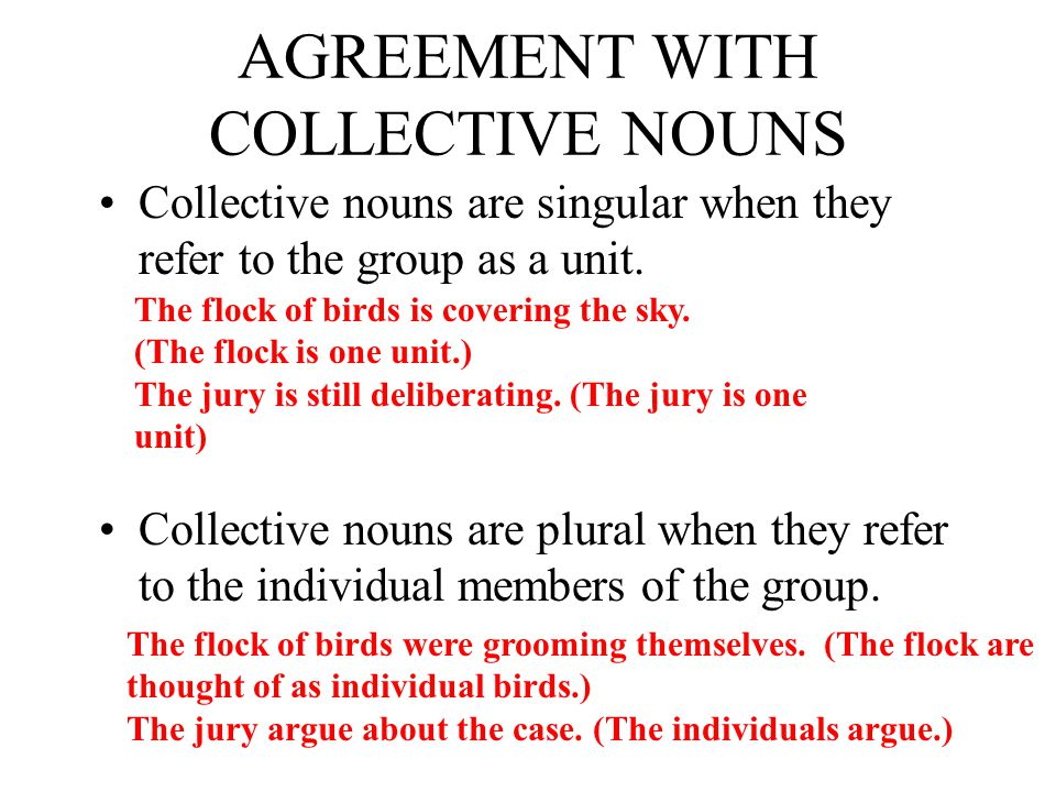 AGREEMENT WITH COLLECTIVE NOUNS