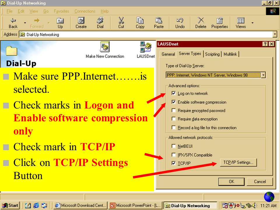 Make sure PPP.Internet…….is selected.