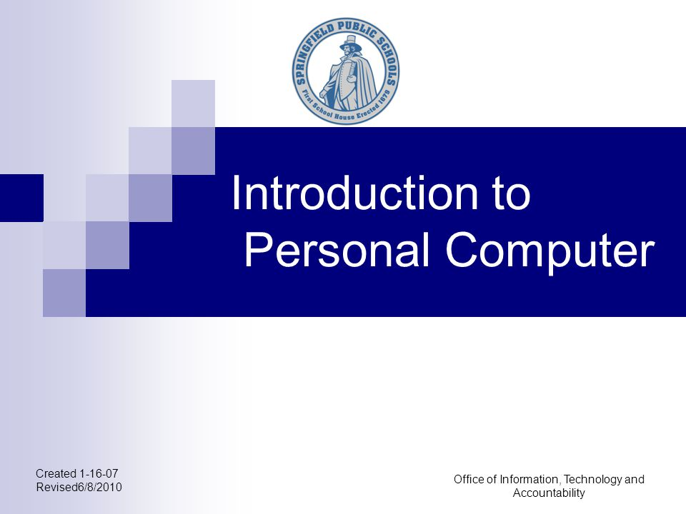Introduction to Personal Computer