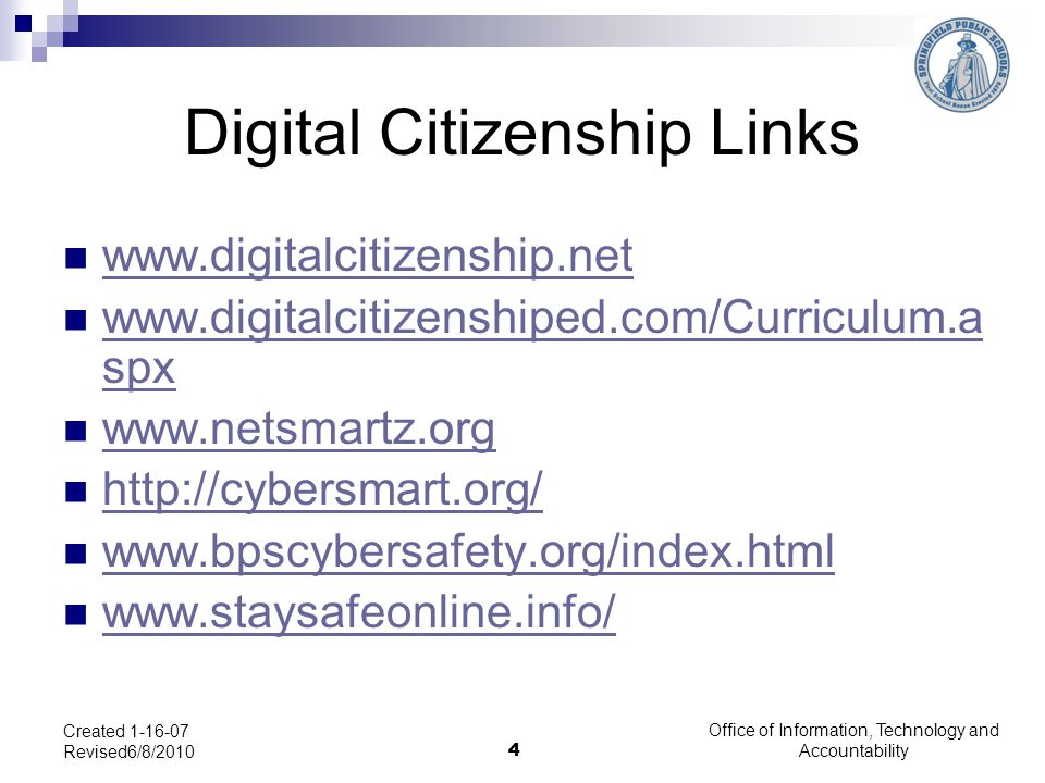 Digital Citizenship Links