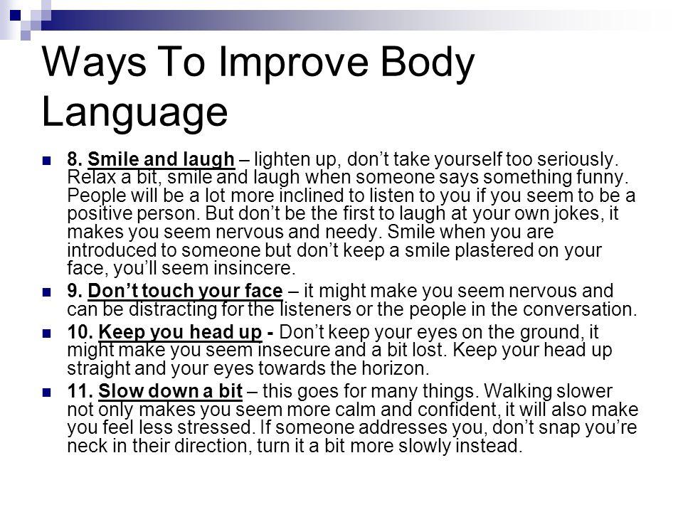 Ways To Improve Body Language