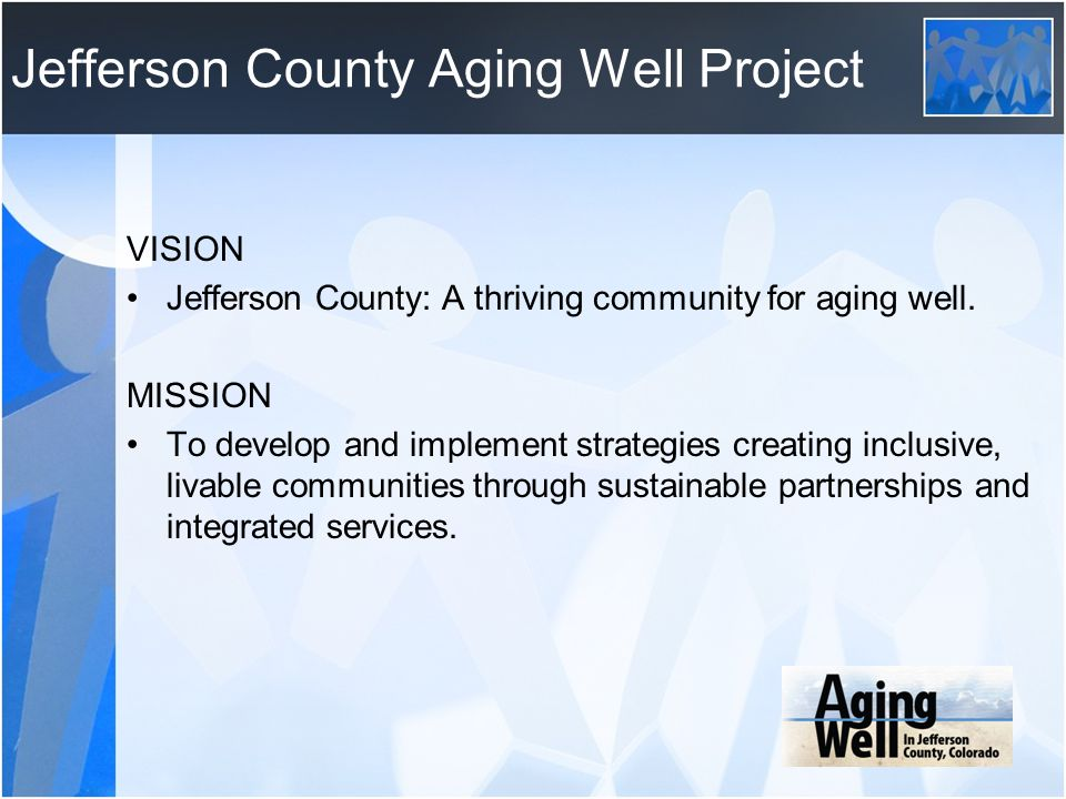 Jefferson County Aging Well Project