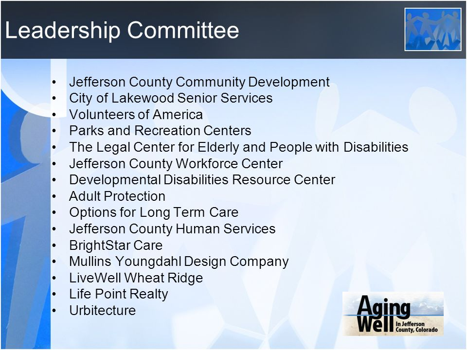 Leadership Committee Jefferson County Community Development