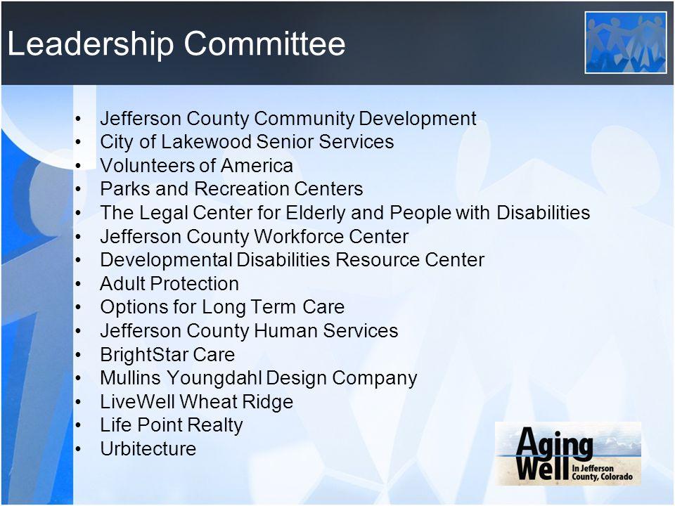 Leadership Committee Jefferson County Community Development