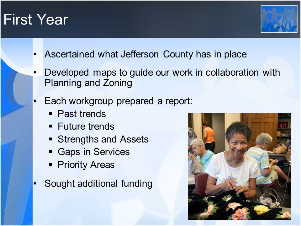 First Year Ascertained what Jefferson County has in place