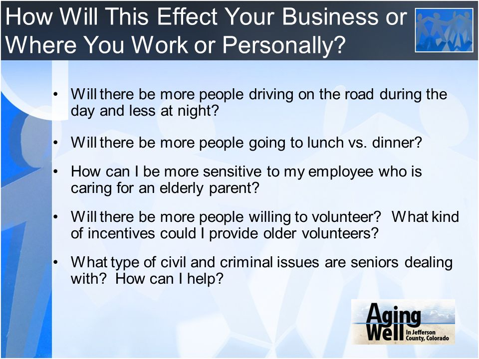 How Will This Effect Your Business or Where You Work or Personally
