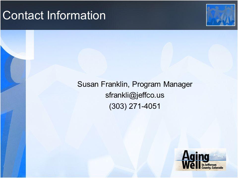 Susan Franklin, Program Manager