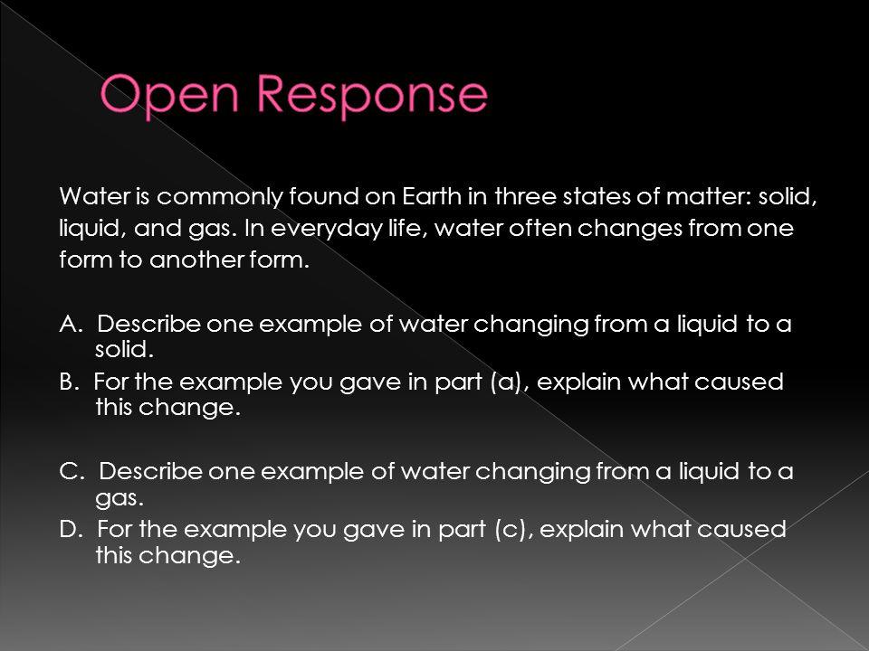 Open Response