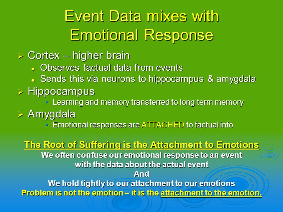 Event Data mixes with Emotional Response