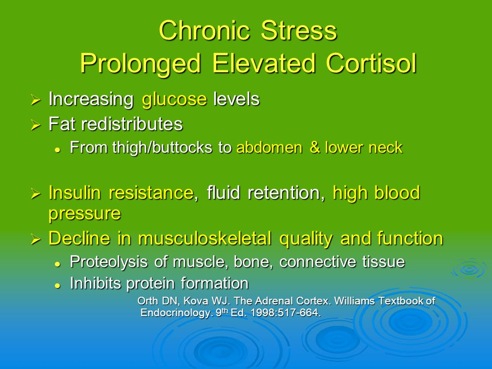 Chronic Stress Prolonged Elevated Cortisol