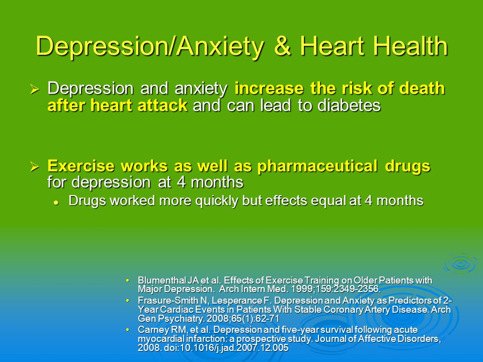 Depression/Anxiety & Heart Health
