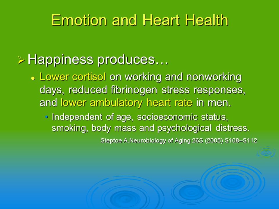Emotion and Heart Health