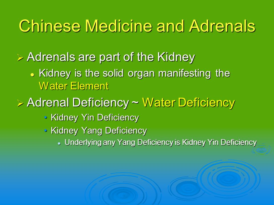 Chinese Medicine and Adrenals