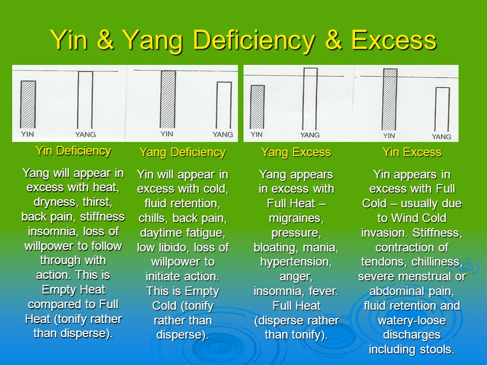 Yin & Yang Deficiency & Excess