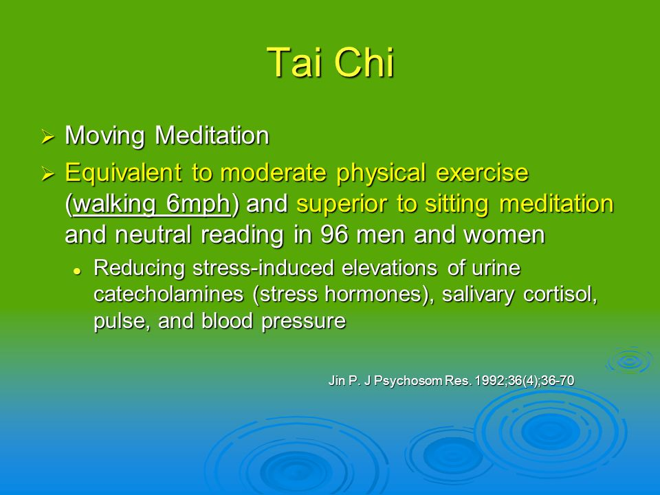 Tai Chi Moving Meditation