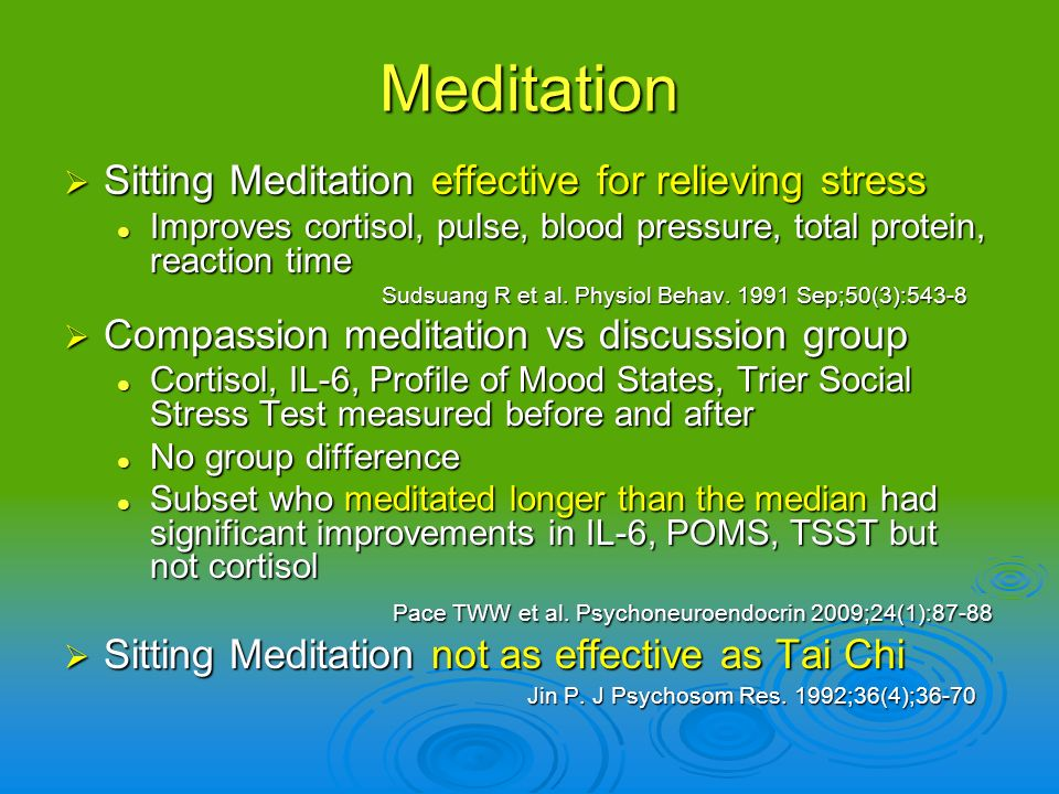 Meditation Sitting Meditation effective for relieving stress