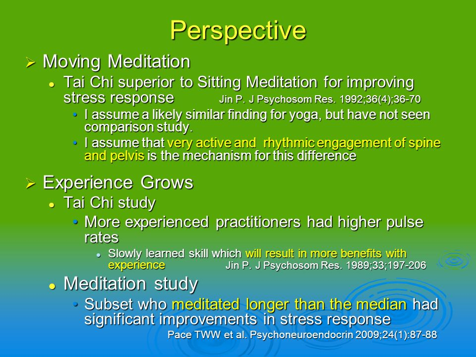 Perspective Moving Meditation Experience Grows Meditation study