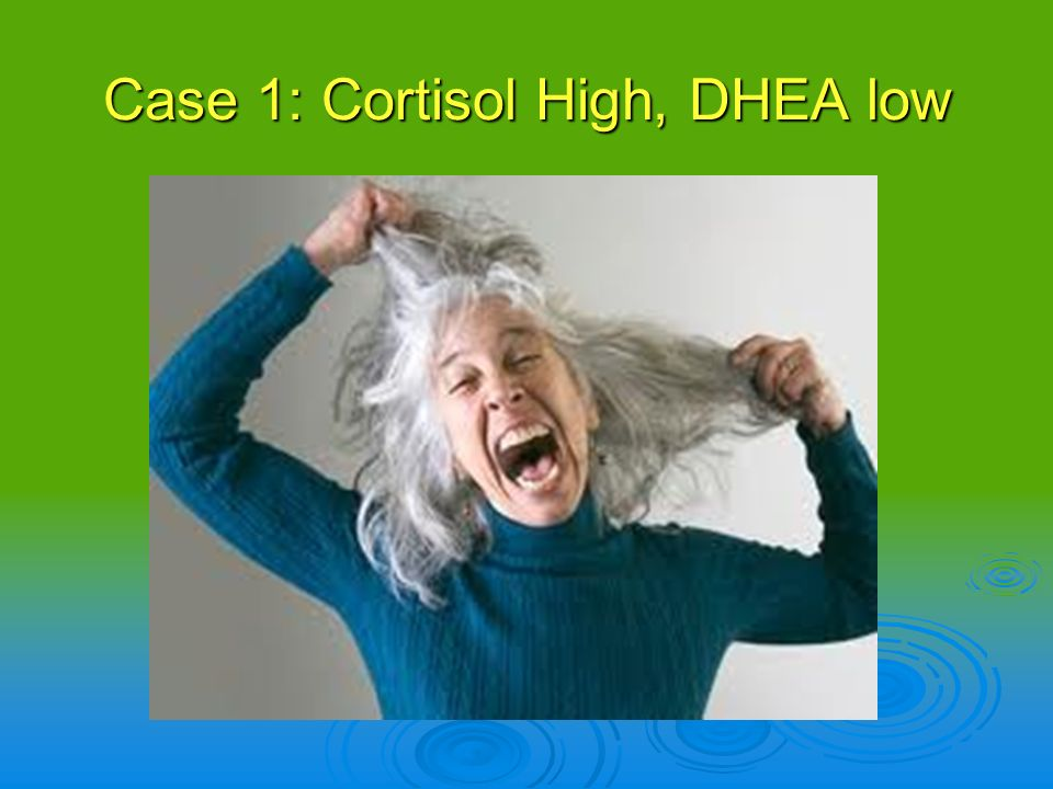 Case 1: Cortisol High, DHEA low