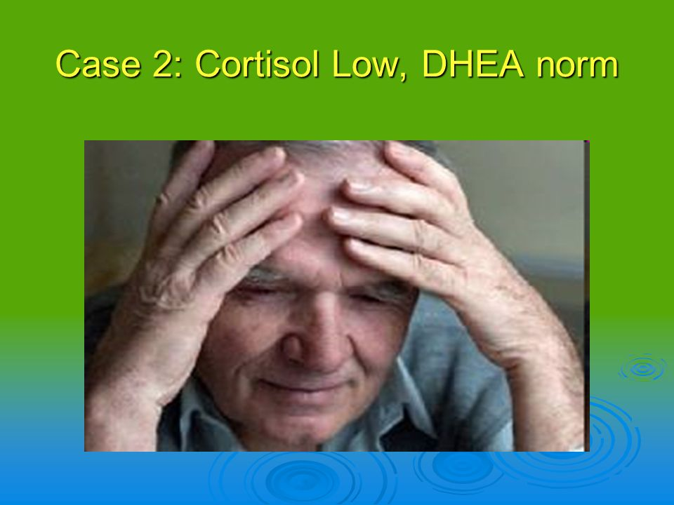 Case 2: Cortisol Low, DHEA norm