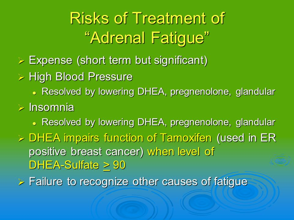 Risks of Treatment of Adrenal Fatigue