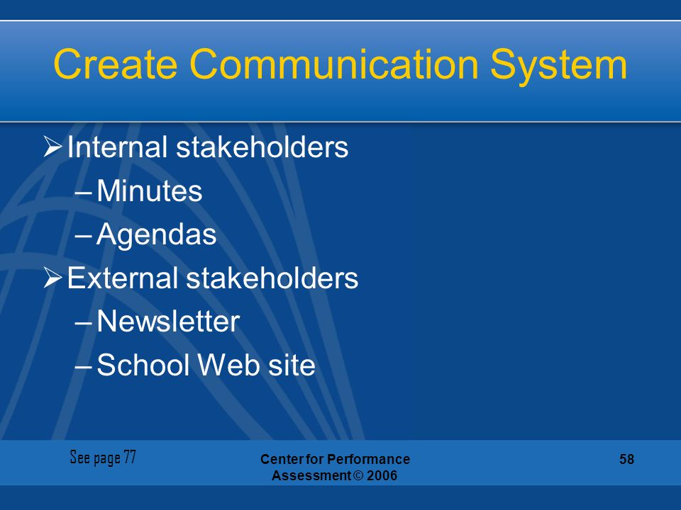 Create Communication System